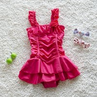 Precio de Pequeñas faldas de los niños-2016 Nuevo traje de baño de los niños que vienen Traje de baño de una sola pieza tradicional del estilo de la falda del traje de baño de los bebés para la pequeña princesa