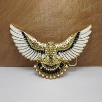 Wholesale NEW American Open Wings Eagle Enamel Metal Western Cowboy Mens Belt Buckle