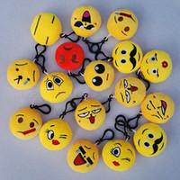 Wholesale Emoji plush keychain toys cm Monkey Love Pig Dog Panda emoji Stuffed Plush Doll Toy keyring for Backpack Pendant