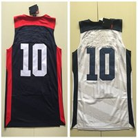 Wholesale White Blue Jersey Dream Team Authentic Jersey USA Olympic Games Basketball Jersey Best quality Size S XXL