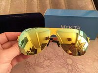 Wholesale Mykita Sunglasses Women Men Hot Sale Luxury Brand Mykita Sunglasses With Original Package Mirror Lens Oval Fashion Mykita Sunglasses