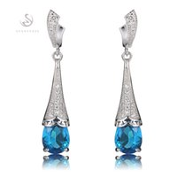 best cubic zirconia earrings - 925 sterling silver Favourite Earrings Promotion S Blue Cubic Zirconia Best Sellers Time limited discount Christmas gift Rave reviews