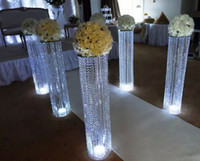 Wholesale new style sliver metal crystal stages pillars for wedding centerpiece