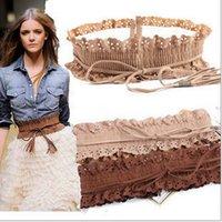 Wholesale Hot Sales Lady Women Waist Belts tassel lace Elastic waistband styles