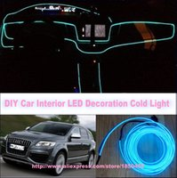 audi tt tdi - For Audi Q7 Q7 TDI Q3 Q5 TT TTS DIY Meters V Car EL Cold Light LED Interior Lights Decorative Ambient Lighting Lamp