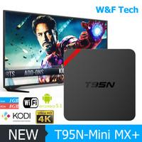 Wholesale Amlogic S905 T95N MINI MX Android TV Box KODI XBMC installed Quad Core Smart TV Boxes Skybox WIFI Google Play K OTT TV Media Player