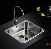 Wholesale kitchen stainless steel sink single slot package drawing stage thickened vegetable washing basin sink