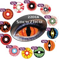 Wholesale New FULL EYES HALLOWEEN contact lenses MM DIAMETER bottle package Crazy contact lenses COSPLAY contact lenses