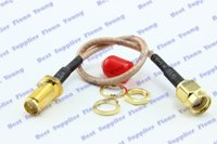 Wholesale RP SMA Plug Female Pin to RP SMA Jack Coaxial Goldplated Adapter Connector cm RG316 Extension Pigtail Cable Cord
