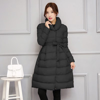 Wholesale 2016 Winter New Warm Thick Long Coats For Women Stand Collar Slim Down Parkas Outerwear Cotton padded jacket Overcoat XXL