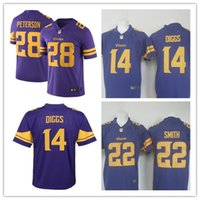 adrian peterson jersey - 2016 New arrival Cheap Mens Minnesota football jerseys Vikings Stefon Diggs Adrian Peterson Smith Purple Color Rush Limited Jersey