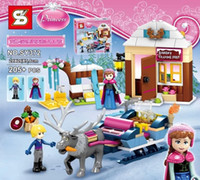 Wholesale New Anna amp Kristoff s Sleigh Adventure Princess Series Building Block Minifigure Girls Toy Compatible With