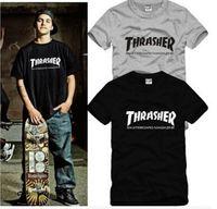 fashion magazine - 2016 USA hip summer shirt trasher t shirt Magazine Flame hip hop women men fashion tshirts skateboard tshirt homme swag t shirt streetwear