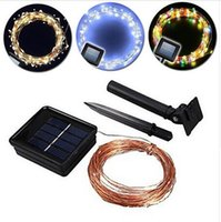 Wholesale best quality m leds IP65 led Solar string RGB light Copper wire Festive tree Lighting Christmas garden lights meter Wedding Lighting