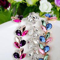 al por mayor zapatos de la decoración de la boda-3 colores 1yard Copa de Cristal Rhinestone de plata de la cadena nupcial del vestido del ajuste de la decoración apliques cosen en los zapatos de la ropa Bolsas