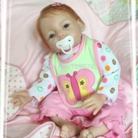 baby bottle mouth - 22inch cm Acrylic amp Silicone Magnetic Mouth Simulation Reborn Baby Doll Lifelike Girl Lovely Princess Gift for Children