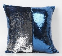 adult foam memory pillow - Bead Embroidered Sequin Pillow Cover Glamour Square Pillow Case Cushion Cover Home Sofa Car Decor Mermaid Bright Pillow Covers cm