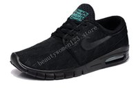 Wholesale new janoski max Mens Running Shoes Dark green Cheap new design air mesh mens womens sb stefan janoski max Shoe size36