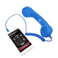Wholesale 3 mm Retro Telephone Handset Radiation proof adjustable tone Cell Phone Receiver Microphone Earphone for iPhone