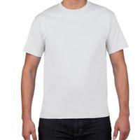Wholesale Gym Clothing XXXL oz g Cotton Undershirt Men O Neck Fanila Cool White Plain T Shirt for Men Top in Men s Undershirts