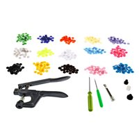 Wholesale 1 Set Snap Plier Tools T3 T5 T8 Deduction Clamp T5 Snap Buttons Sewing Supplies For Fastener Used For Diaper DIY Mixing