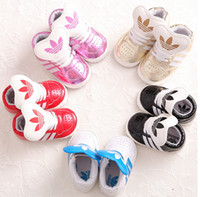 Wholesale Cheap baby PU shoes candy color children toddler shoes months boys and girls spring autumn soft soled shoes pair B3