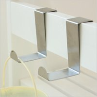 Wholesale 2Pcs Set Stainless Steel Self Home Kitchen Wall Door Holder Hook Hanger Hanging Coat Hooks
