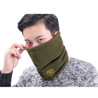 active dual - NEW Men Fleece Scarf Collar Hedging Cap Or For Neck Thermal And Cycling Protection Dual Purpose Sports Beanie