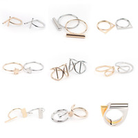 bands for weddings - Styles Quality Simple Brass Copper Midi Rings Mix Gold Silver Plated Cocktail Rings For Women Weddings Accessories XX721