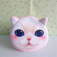 american business supplies - Newest Children Mini Cute Cat Face Zipper Case Coin Kids Purse Wallet Makeup Card Bag Pouch Party Supplies