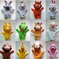 Wholesale New arrive Plush toys hand Puppets Cartoon Animal Chinese Zodiac Hand Puppet Kids Gifts
