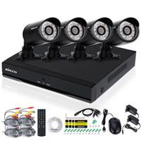 Wholesale KKMOON CH DVR Set Waterproof TVL Security Camera System CH H D1 DVR Night Vision CCTV Camera Outdoor DVR Kit USA Stock
