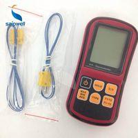 Wholesale Portable GM1312 Dual channel Thermometer Temostato Digital Temperature Meter For K J T E R S N Thermocouple LCD Termometro G231