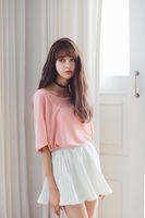 Wholesale 2016 new fashion Pleated Retro High Waist pure color Summer short chiffon skirts mini skirt