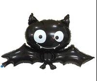 aluminium bats - New Imitation Bats Balloon Halloween Balloon Halloween Party Decorative Balloon