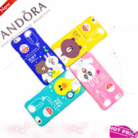abs panda - 2017 New D Cute Cartoon Animal Design Brown Teedy Bear Mickey Minnie Mouse monsters Soft Silicone Case for Iphone S S Plus Panda S7