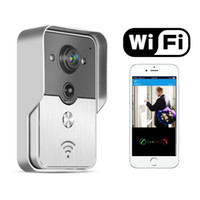 Wholesale Wireless Video doorbell Intercom WIFI PIR Motion activated Waterproof Support android IOS APP unlock by phone