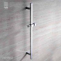 Wholesale Han Pai Brass Bathroom Product Slide Bar Chrome Plated Head Holder Hand Held Shower Bracket Holder Sliding Rail HP7502