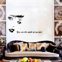 avatar decals - New Plastic Beauty Avatar English Carved Living Room Bedroom Wall Stickers Home Decal Waterproof