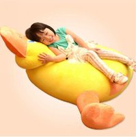 Cheap High quality 2016 Hot 125cm X 120cm Super Lovely Stuffed Soft Plush Rubber Duck Sofa Tatami