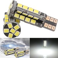 automotive led replacement lights - 100PCS T10 W5W SMD Canbus Error Free Wedge White LED Light bulbs Car Side Wedge Light Automotive Replacement Parts V