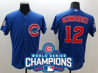 Wholesale Schwarber Cubs World Series Champions Patch MLB Chicago Mens Jerseys Blue MLB Baseball Jersey Free Drop Shipping Lymmia