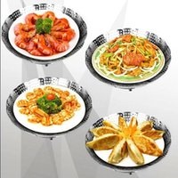 Wholesale Magic steamer stainless steel multifunctional steamer retractable folding steaming plate fruit plate contraction steaming plate