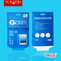 Wholesale 100pcs Universal High Quality Retail H Tempered Glass Protector Packaging Box For iPad mini iPad inches inches