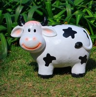 garden decorative items - Lovely garden grass Cow animal resin crafts ornaments home furnishings items Villa