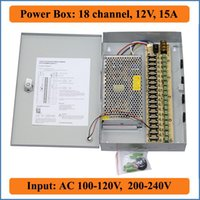 Wholesale 18 Port V A CCTV Camera Power Box CH channel CTV Security Video Camera wall hanging Power supply Box for IP camera AC V input