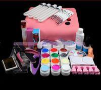 acrylic mold kit - 2016 New W Pink V UV lamp Acrylic Nail Art Mold Display r Dish Tool Manicure Salon Decor Kits D