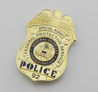 administration services - federal protective service administration special agent police insignia badges and patches collection