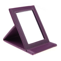 Wholesale Portable Foldable Leather Mirror Women Beauty Make up Mirror Cosmetic Mirror