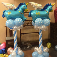 angels inflatables - Large Size Foil Balloons Cartoon Kids Classic Toys Cute Cartoon Animal Pegasus Inflatable Angel Pegasus Helium Wedding Balloons